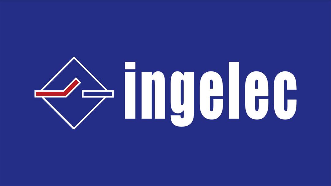 ingelec logo blanc sur bleu