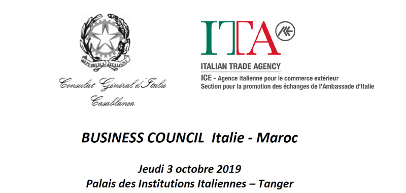 Business council Italie Maroc