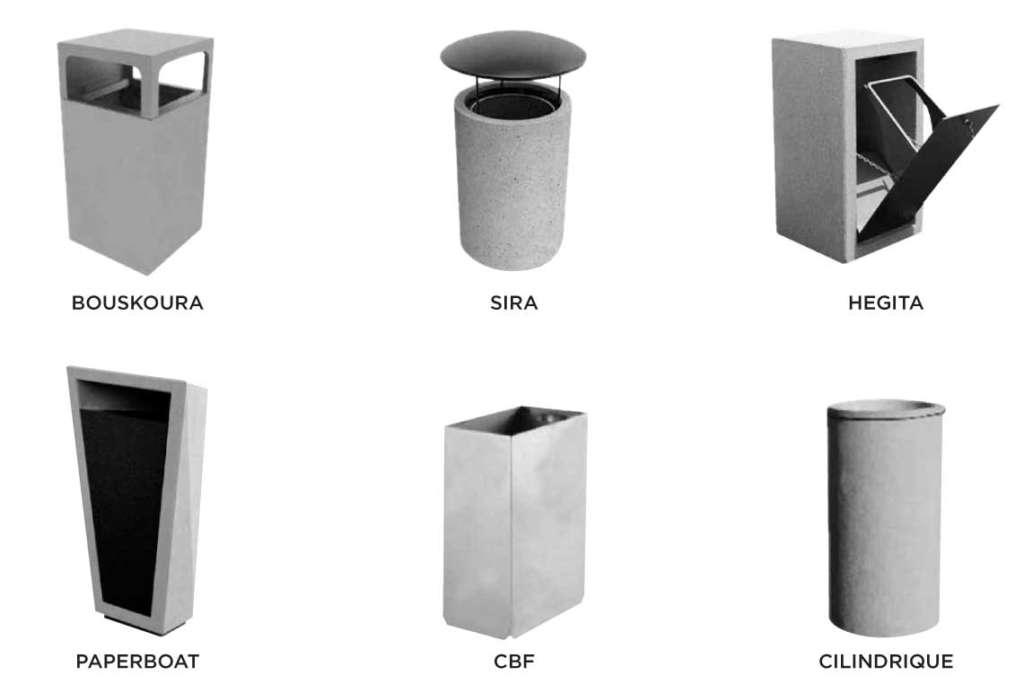 mafoder corbeilles exterieur beton