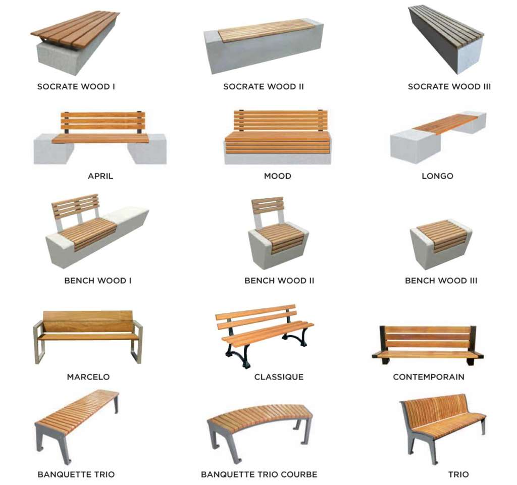 mafoder mobilier urbain bancs bois