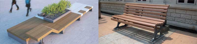 mafoder mobilier urbain bancs bois exemple