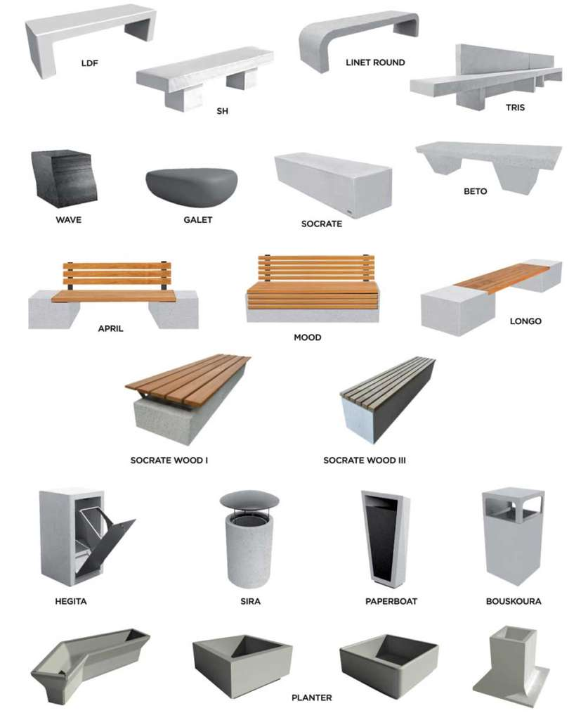 mafoder mobilier urbain exemples