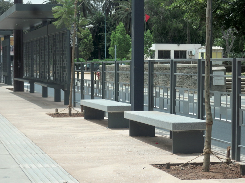 mafoder mobilier urbain tramway bancs