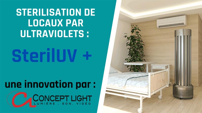 STERILISATION DE LOCAUX PAR ULTRAVIOLETS SterilUV PAR CONCEPT LIGHT