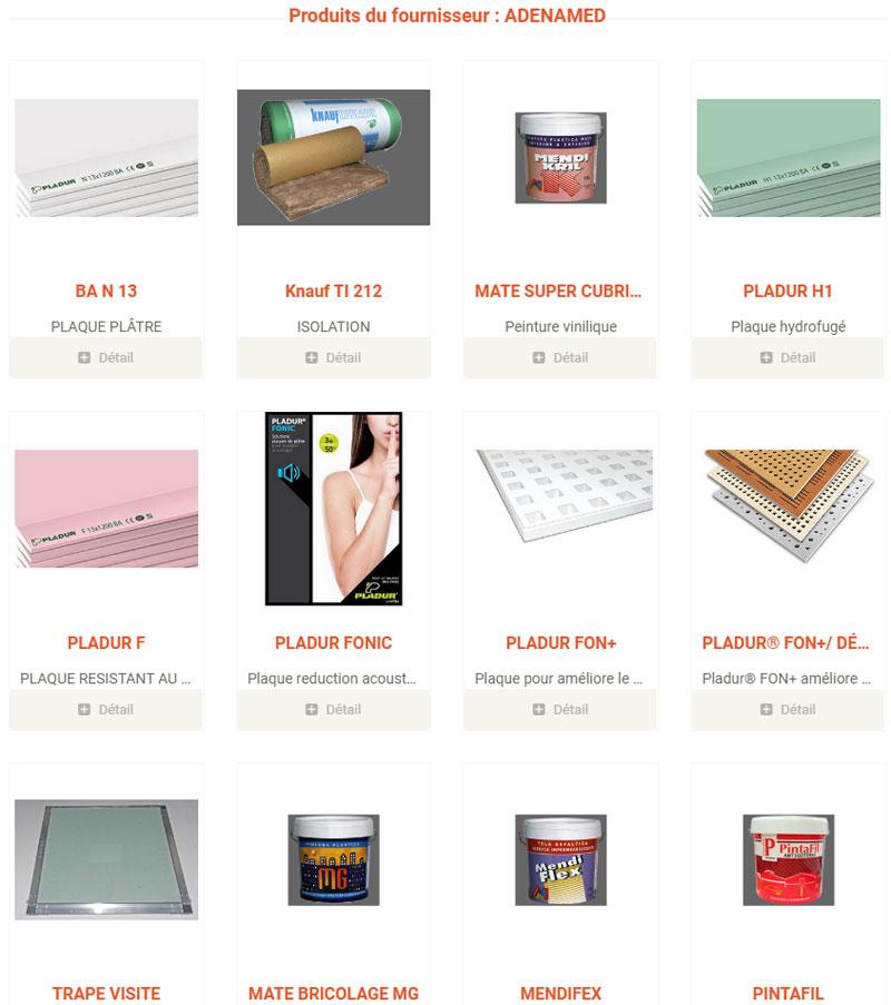 adenamed mabani liste produits