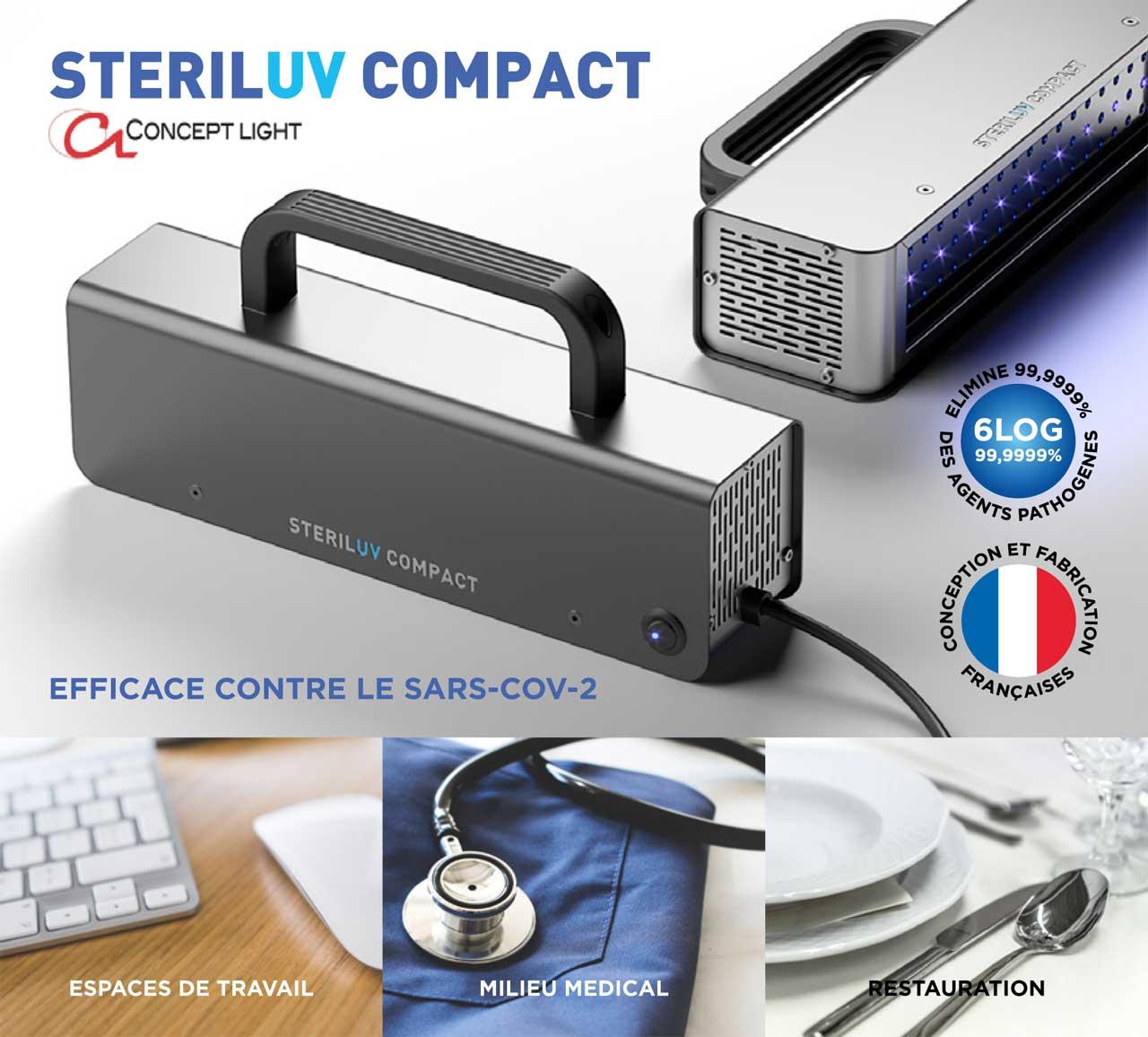 featured image STERILUV COMPACT LED Appareil portatif de Desinfection UV LED Concept Light mabani