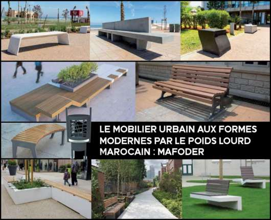 featured image mafoder mobilier urbain bancs bois mabani.info mabani.ma